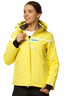 Купить оптом куртку горнолыжную женскую желтого цвета 1745J в интернет магазине MTFORCE.RU