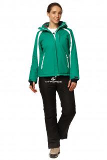 Купить оптом костюм горнолыжный женский зеленого цвета 01746Z в интернет магазине MTFORCE.RU