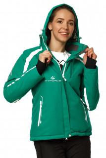 Купить оптом куртку горнолыжную женскую зеленого цвета 1746Z в интернет магазине MTFORCE.RU