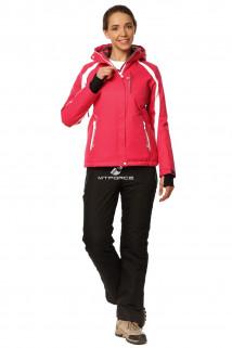 Купить оптом костюм горнолыжный женский розового цвета 01746R в интернет магазине MTFORCE.RU