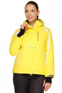 Купить оптом куртка горнолыжная женская желтого цвета 1746J в интернет магазине MTFORCE.RU