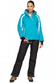 Купить оптом костюм горнолыжный женский бирюзового цвета 01746Br в интернет магазине MTFORCE.RU