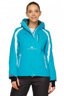 Купить оптом куртка горнолыжная женская бирюзового цвета 1746Br в интернет магазине MTFORCE.RU