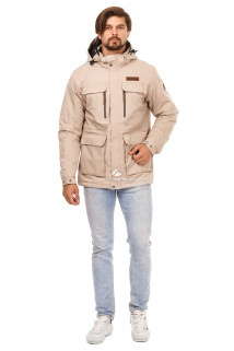 Купить оптом куртку мужскую осень весна бежевого цвета 1747B в интернет магазине MTFORCE.RU
