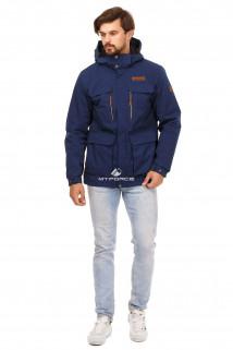 Купить оптом куртку мужскую осень весна темно-синего цвета 1747TS в интернет магазине MTFORCE.RU