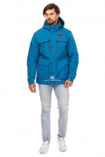 Купить оптом куртку мужскую осень весна синего цвета 1747S в интернет магазине MTFORCE.RU