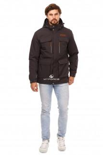 Купить оптом куртку мужскую осень весна темно-серого цвета 1747TC в интернет магазине MTFORCE.RU