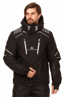 Купить оптом куртку горнолыжную мужскую черного цвета 1748Ch в интернет магазине MTFORCE.RU