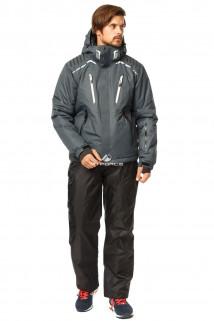 Купить оптом костюм горнолыжный мужской темно-серого цвета 01748TC в интернет магазине MTFORCE.RU