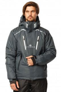 Купить оптом куртка горнолыжная мужская темно-серого цвета 1748TC в интернет магазине MTFORCE.RU