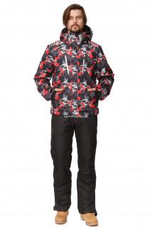 Купить оптом костюм горнолыжный мужской красного цвета 01749Kr в интернет магазине MTFORCE.RU