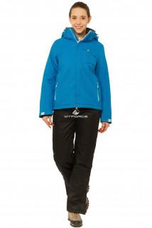Купить оптом костюм горнолыжный женский синего цвета 01750S в интернет магазине MTFORCE.RU