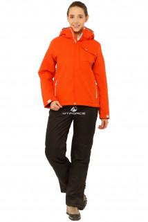 Купить оптом костюм горнолыжный женский оранжевого цвета 01750O в интернет магазине MTFORCE.RU
