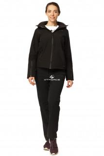 Купить оптом костюм женский осень весна черного цвета 01752Ch в интернет магазине MTFORCE.RU