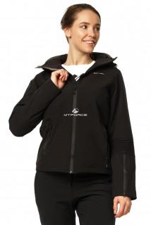 Купить оптом куртка спортивная женская осень весна черного цвета 1752Ch в интернет магазине MTFORCE.RU