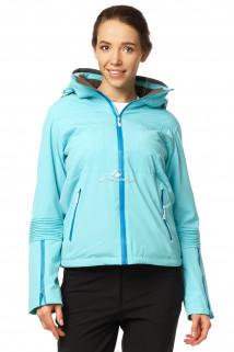 Купить оптом куртка спортивная женская осень весна бирюзового цвета 1752Br в интернет магазине MTFORCE.RU