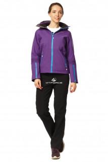 Купить оптом костюм женский осень весна фиолетового цвета 01752F в интернет магазине MTFORCE.RU
