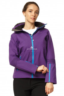 Купить оптом куртка спортивная женская осень весна фиолетового цвета 1752F в интернет магазине MTFORCE.RU
