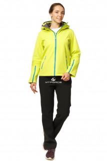 Купить оптом костюм женский осень весна желтого цвета 01752J в интернет магазине MTFORCE.RU