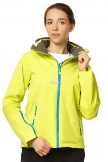 Купить оптом куртка спортивная женская осень весна желтого цвета 1752J в интернет магазине MTFORCE.RU