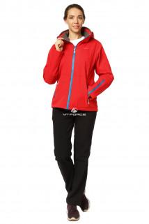 Купить оптом костюм женский осень весна красного цвета 01752Kr в интернет магазине MTFORCE.RU
