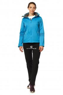 Купить оптом костюм женский осень весна голубого цвета 01752Gl в интернет магазине MTFORCE.RU