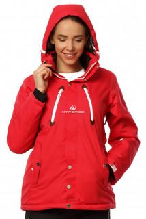 Купить оптом куртку горнолыжную женскую красного цвета 1753Kr в интернет магазине MTFORCE.RU