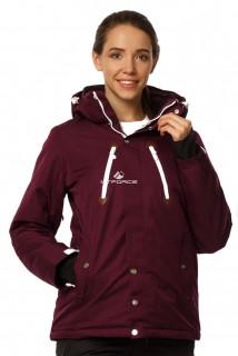 Купить оптом куртку горнолыжную женскую фиолетового цвета 1753F в интернет магазине MTFORCE.RU