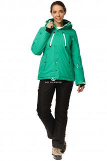 Купить оптом костюм горнолыжный женский зеленого цвета 01753Z в интернет магазине MTFORCE.RU