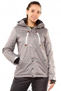 Купить оптом куртка горнолыжная женская бежевого цвета 1754B в интернет магазине MTFORCE.RU
