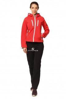 Купить оптом костюм виндстопер женский красного цвета 01760Kr в интернет магазине MTFORCE.RU