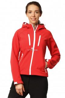 Купить оптом ветровка - виндстоппер женская красного цвета 1760Kr в интернет магазине MTFORCE.RU