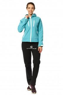 Купить оптом костюм виндстопер женский галубого цвета 01760Gl в интернет магазине MTFORCE.RU