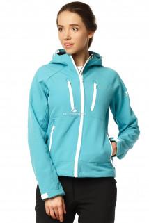 Купить оптом ветровка - виндстоппер женская голубого цвета 1760Gl в интернет магазине MTFORCE.RU