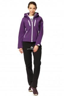 Купить оптом костюм виндстопер женский фиолетового цвета 01760F в интернет магазине MTFORCE.RU