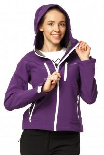 Купить оптом ветровка - виндстоппер женская фиолетового цвета 1760F в интернет магазине MTFORCE.RU