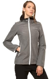 Купить оптом ветровку - парку виндстоппер женскую серого цвета 1761Sr в интернет магазине MTFORCE.RU