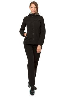 Купить оптом костюм виндстопер женский черного цвета 01761Ch в интернет магазине MTFORCE.RU
