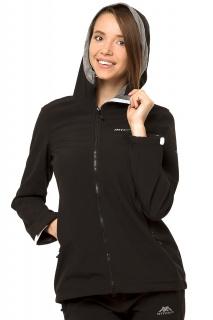 Купить оптом ветровку - парку виндстоппер женскую черного цвета 1761Ch в интернет магазине MTFORCE.RU
