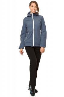 Купить оптом костюм виндстопер женский синего цвета 01761S в интернет магазине MTFORCE.RU
