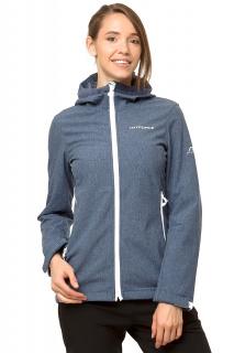 Купить оптом ветровку - парку виндстоппер женскую синего цвета 1761S в интернет магазине MTFORCE.RU