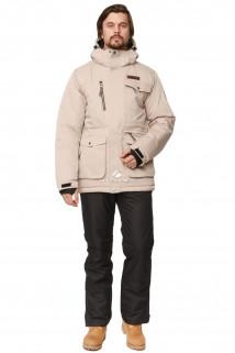 Купить оптом костюм горнолыжный мужской бежевого цвета 01763B в интернет магазине MTFORCE.RU