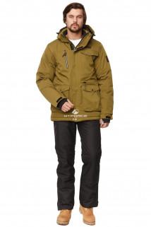 Купить оптом костюм горнолыжный мужской цвета хаки 01763Kh в интернет магазине MTFORCE.RU