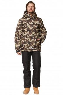 Купить оптом костюм горнолыжный мужской цвета камуфляж  01763Km в интернет магазине MTFORCE.RU