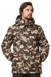 Купить оптом куртка горнолыжная мужская камуфляжного цвета 1763Km в интернет магазине MTFORCE.RU