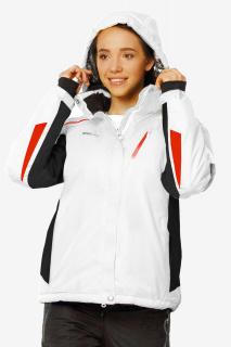 Купить оптом женскую зимнюю горнолыжную куртку белого цвета в интернет магазине MTFORCE 1765Bl