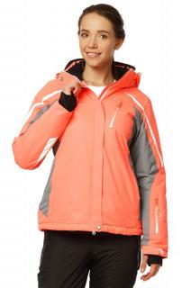 Купить оптом куртку горнолыжную женскую персикового цвета 1765P в интернет магазине MTFORCE.RU