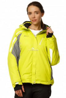Купить оптом куртку горнолыжную женскую желтого цвета 1765J в интернет магазине MTFORCE.RU