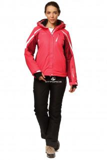 Купить оптом костюм горнолыжный женский розового цвета 01765R в интернет магазине MTFORCE.RU