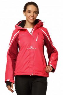 Купить оптом куртку горнолыжную женскую розового цвета 1765R в интернет магазине MTFORCE.RU